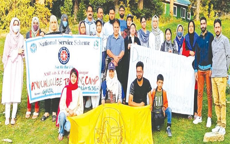 SP College organises 3- day trekking, camping programme
