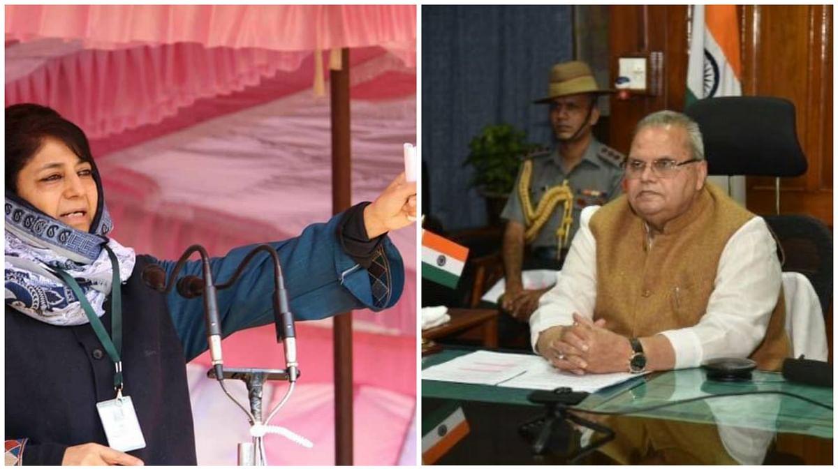 Roshni Act: Mehbooba serves defamation notice to ex-J&K Guv Satya Pal Malik