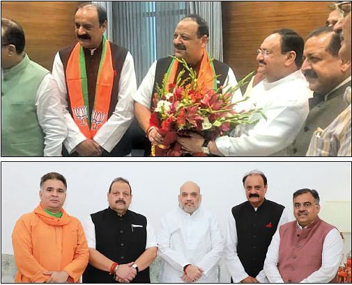 Devender Rana, Surjit Singh Slathia join BJP