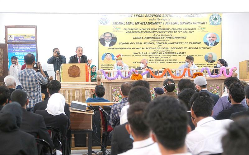 CUK's Deptt of Law, DLSA hold legal awareness prog