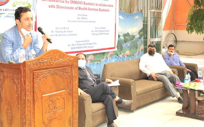 IMHANS Kashmir organizes prog to commemorate World Mental Health Week
