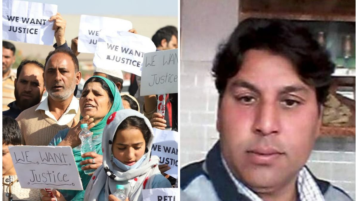 Fruit trader missing for over two weeks in north Kashmir's Sopore, family holds protest