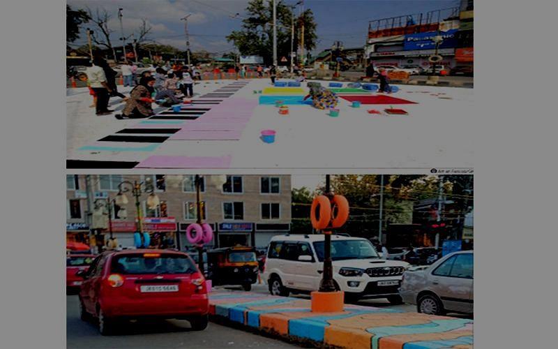 Blocking of road at Regal Chowk leads to traffic jams