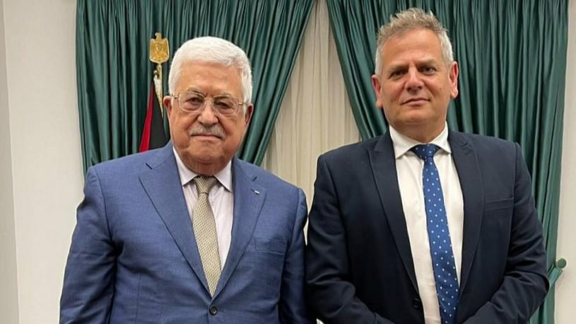 Palestinian president hosts Israeli minister in West Bank