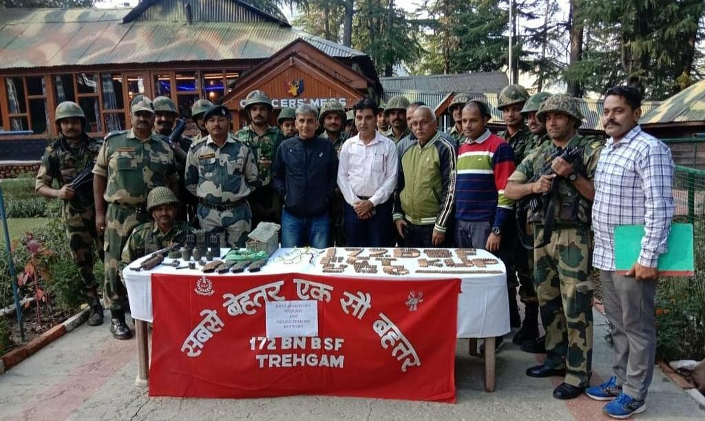 Arms and ammunition recovered in north Kashmir's Kupwara