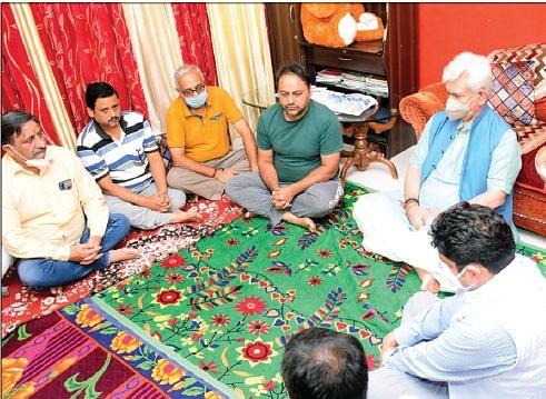 LG visits family of slain teacher Deepak Chand