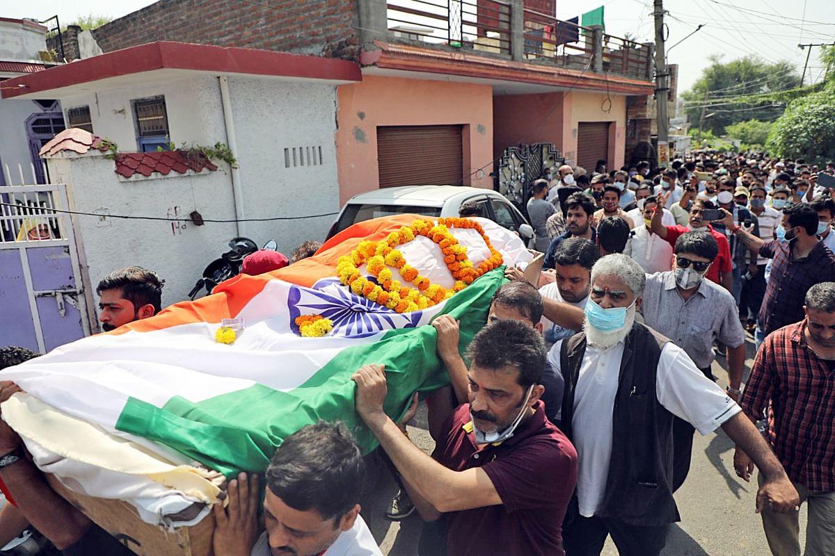 Deepak Chand cremated in Jammu