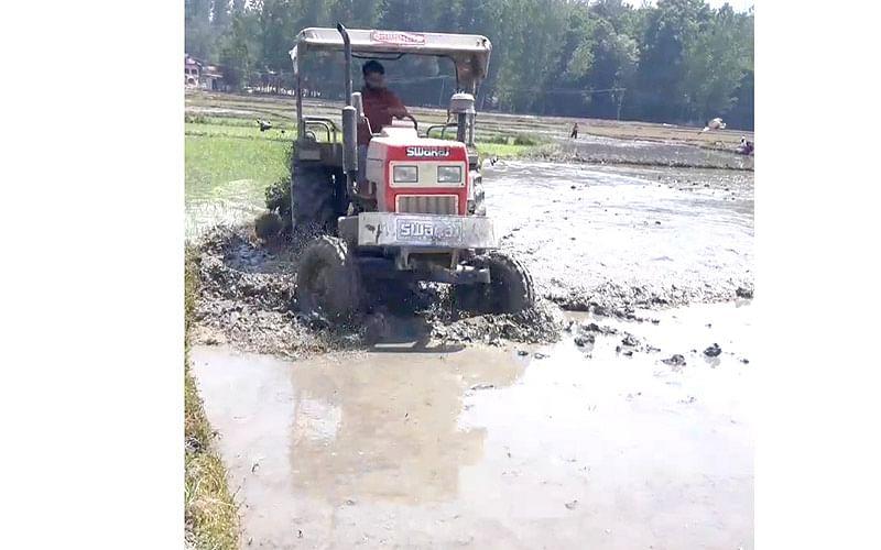 Farm mechanization in rice cultivation