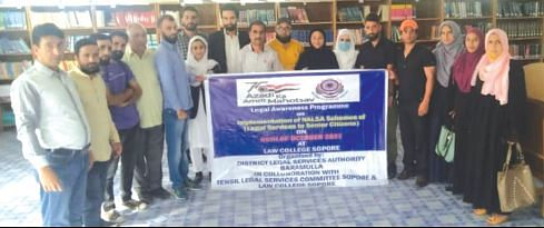 Legal awareness prog conducted at Sopore law college