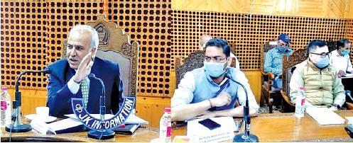 Anantnag MP Hasnain Masoodi chairs DISHA meeting at  Shopian