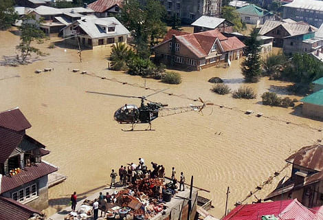 Flood hit people purchase submerged garments