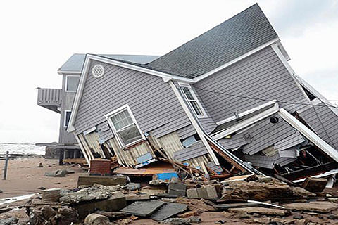 Residential house collapsed