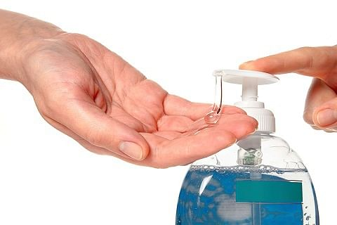 Don't have soap, water? Use sanitizer!
