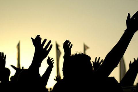 Academic arranged teachers stage protest