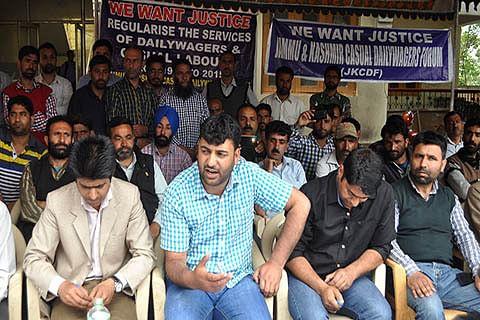 Daily wagers demand regularization