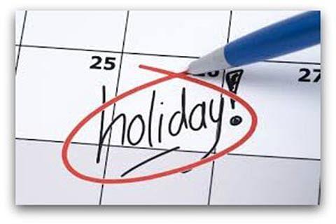 How many holidays?