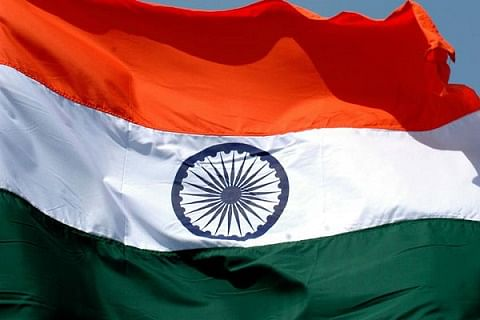 Tricolour hoisted at Government office complex