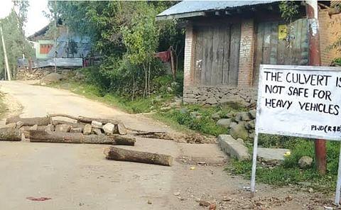 Khag-Drang road closed as bridge caves in at Shunglipora