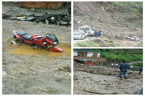 Heavy rains inundate villages, disrupt road connectivity in Kishtwar