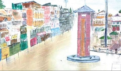 Saudi-based Kashmiri artist portrays flood-hit Srinagar on canvas