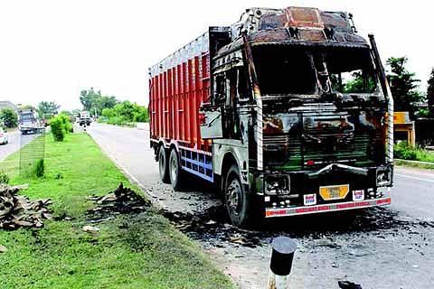 Protests in Jammu against 'sacrilegious' act