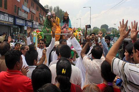 Pandits celebrate Janamashtami in Kashmir
