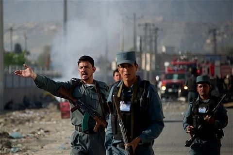 Roadside bomb kills 5 Afghan police officers on patrol