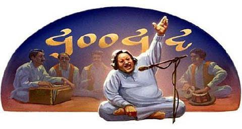 Google celebrates Nusrat Fateh Ali Khan's 67th birthday with doodle