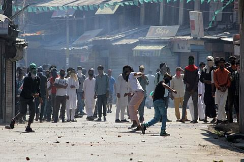 Forces fire in air to break up demos in Kulgam after Abu Qasim's death
