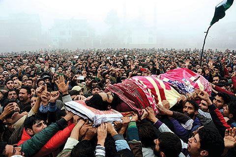3 Hizb militants laid to rest amid azadi slogans
