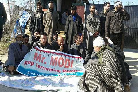 Kashmir legislator Rashid stages sit-in to protest civilian killing in Pulwama