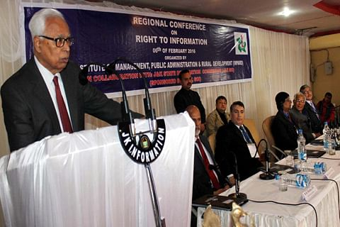Regional Conference on RTI   Public has right to know what rulers are doing: Vohra