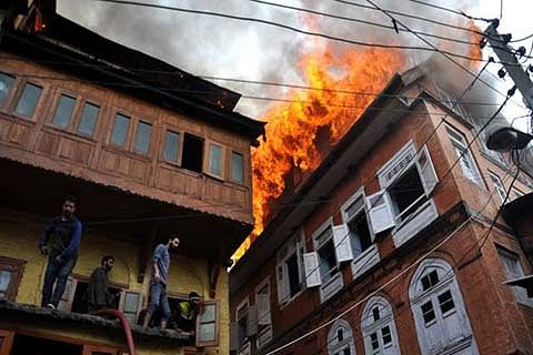 Srinagar witnesses surge in fire incidents