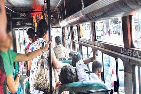 Despite reservation, no seats for women in buses