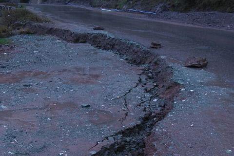 Srinagar-Muzaffarabad road stretch sinks in Uri