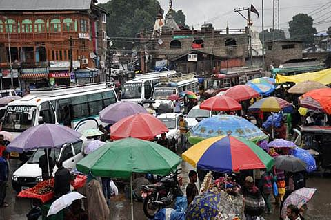 Rains likely to continue till Sunday evening