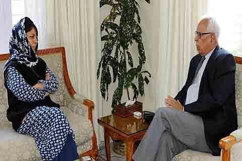Governor invites Mehbooba Mufti to form government