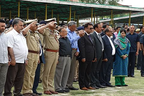 Mehbooba salutes police for 'not allowing JK to become Syria, Pakistan'