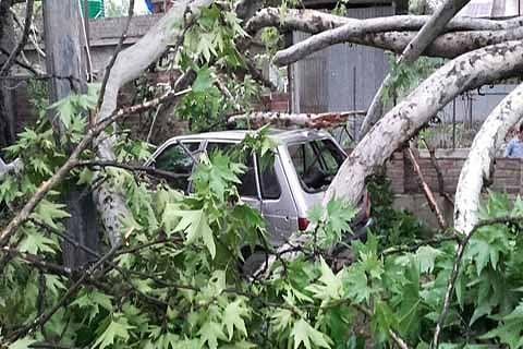 Girl dies in Bandipora windstorm, 700 structures damaged