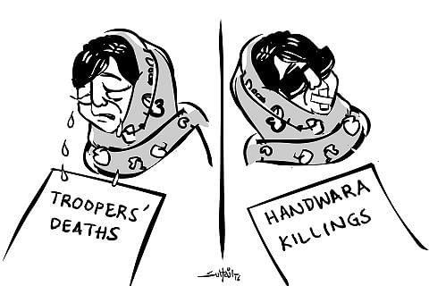 Cartoon By Suhail Naqashbandi