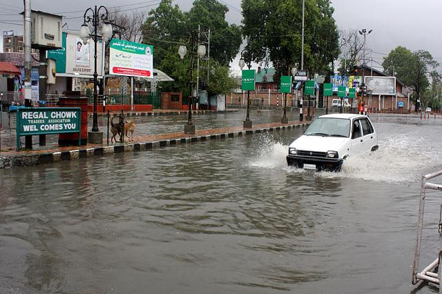Rains Water-Logged Srinagar Roads