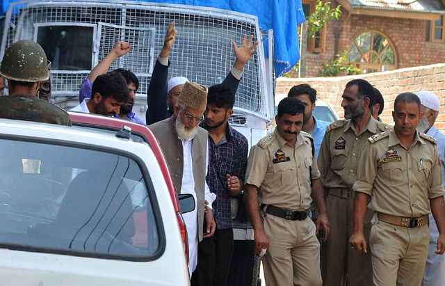 Geelani Detained Ahead of Jamia Masjid Chalo