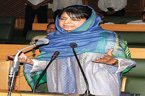 Mehbooba takes oath as MLA
