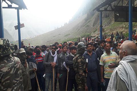 1,726 pilgrims leave Jammu for Amarnath Yatra