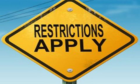Restrictions in Kashmir areas today
