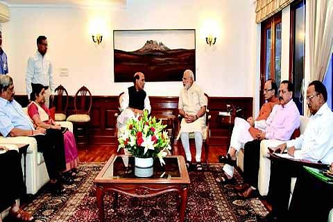 PM reviews situation, appeals for calm