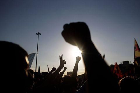 JKLF stages protest against killing spree