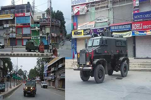Sudden movement of Army vehicles in city centre surprises people
