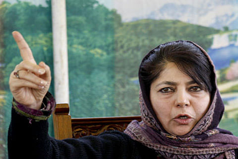 Mehbooba Mufti meets families affected by Kashmir violence