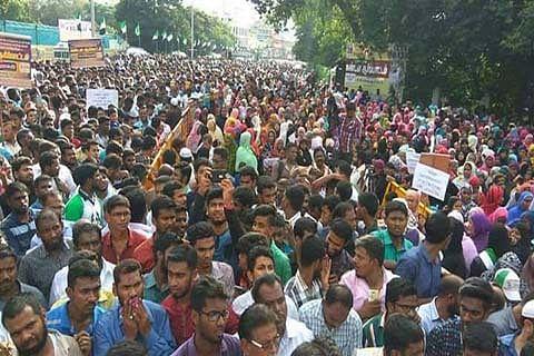 Tamils protest against Kashmir killings